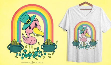 St Patricks flamingo t-shirt design
