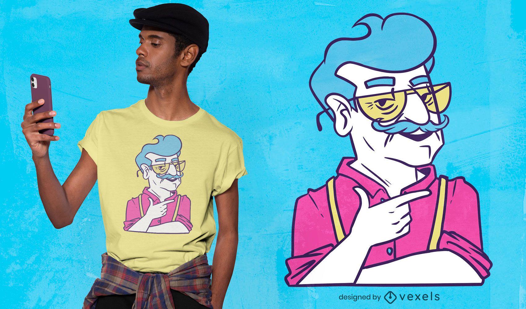 Cool grandpa t-shirt design