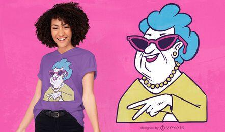 Diseño de camiseta de abuela genial