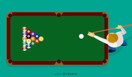 Billiard sport vector