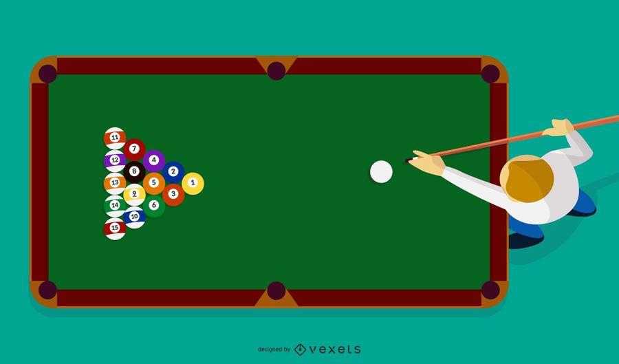 Billiard sport vector