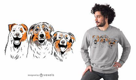 Design de camisetas de pastores australianos
