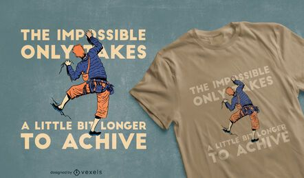 Rock climber t-shirt design