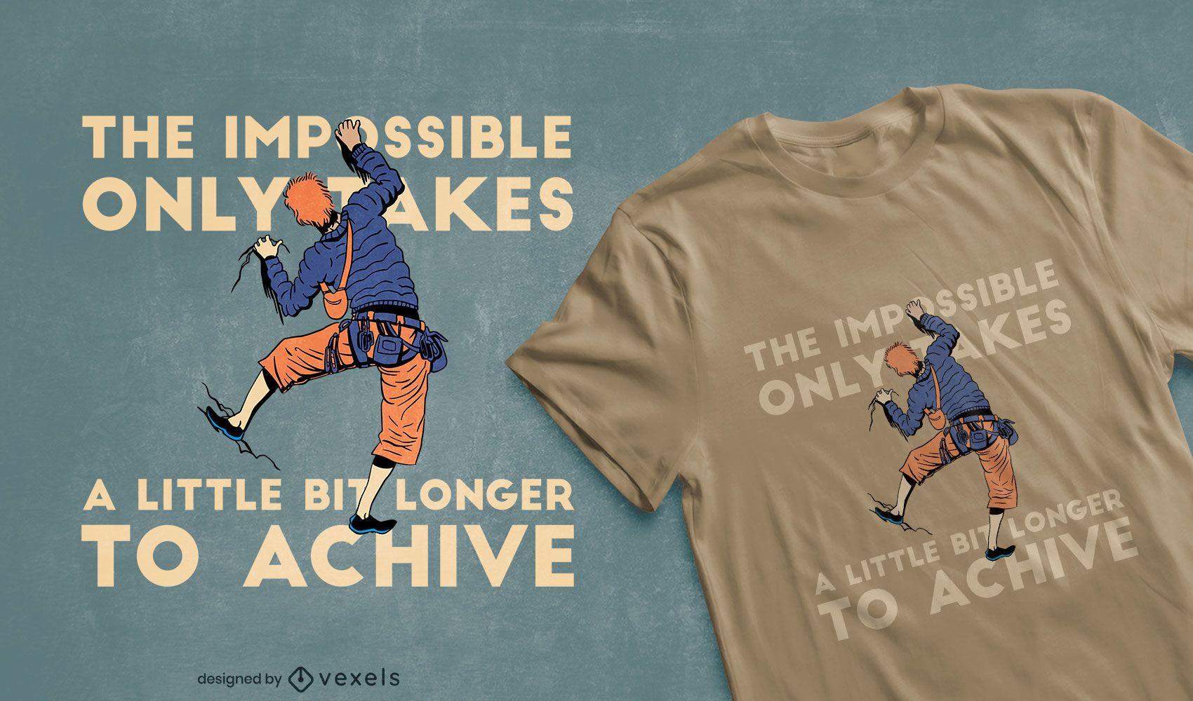 Rock climber t-shirt design