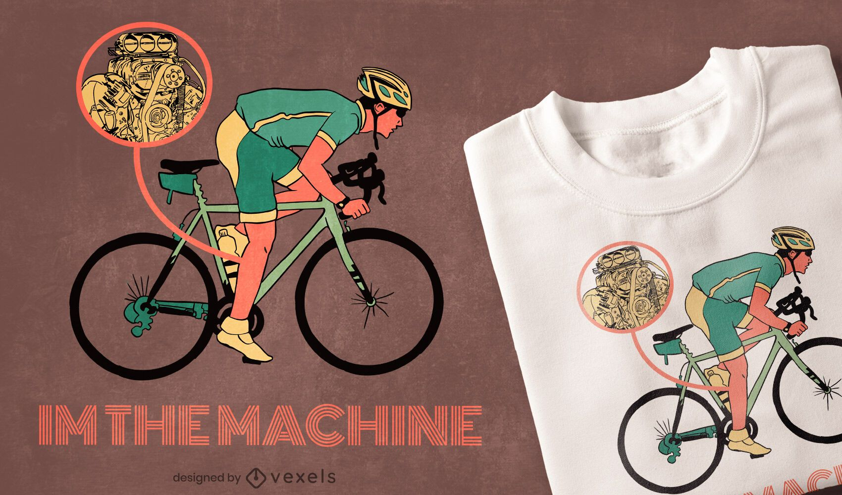 Soy el diseño de la camiseta de la máquina