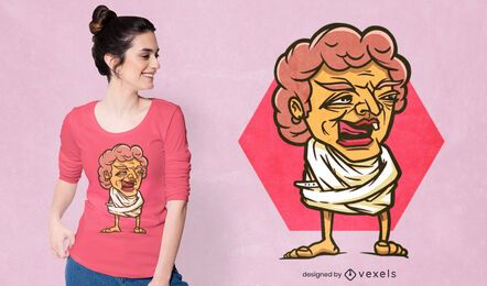Design de camiseta de mulher idosa maluca