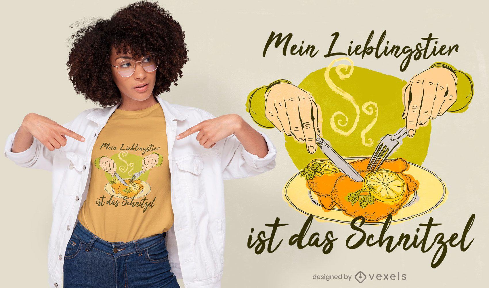 Diseño de camiseta con cita de Schnitzel