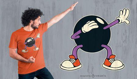 Design de camiseta com bola de petanca