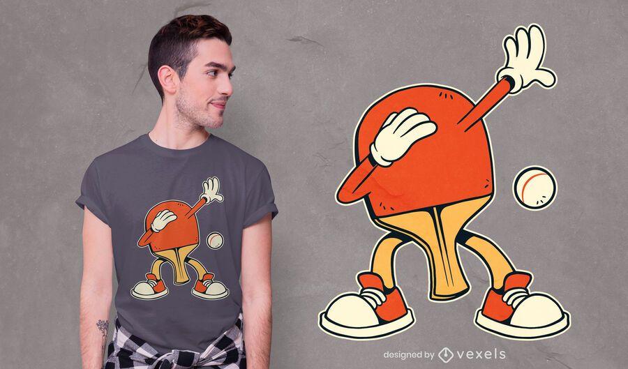 Dabbing ping-pong racket t-shirt design
