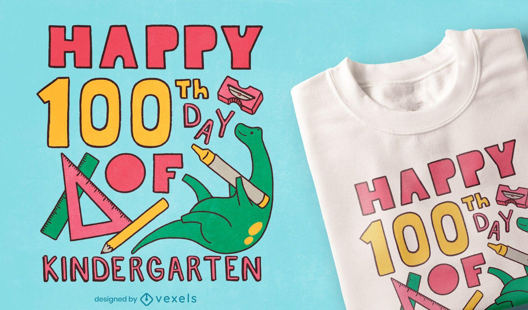 100th day kindergarten t-shirt design