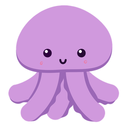 Happy octopus flat