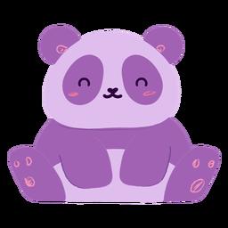Happy panda flat