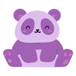 Plano panda feliz