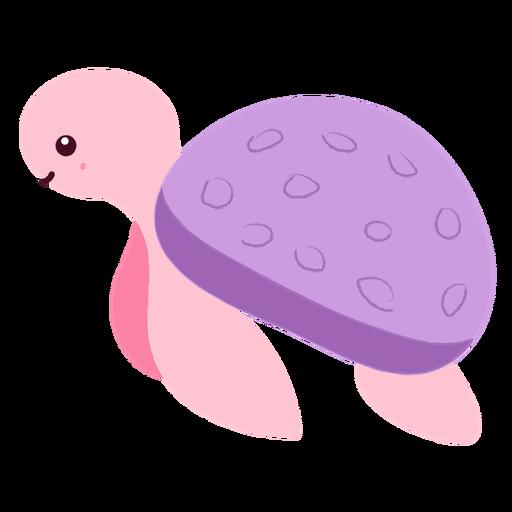 Happy swimming turtle flat