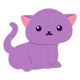 Gatito feliz plano