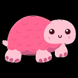 Tortuga rosa plana