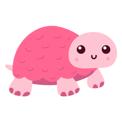 Pink turtle flat