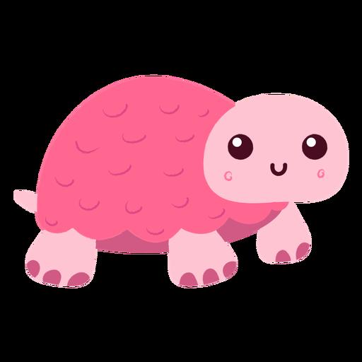 Rosa Schildkröte flach