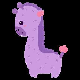 Plano feliz jirafa morada