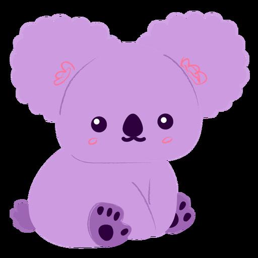 Happy purple koala flat