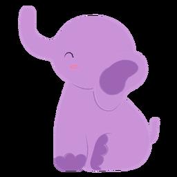 Happy purple elephant flat