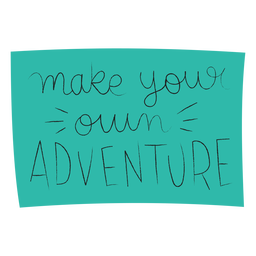 Tu propia aventura letras manuscritas.
