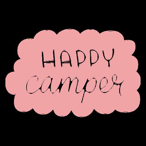 Lettering happy camper
