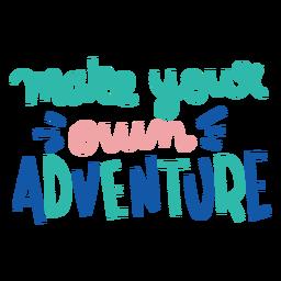 Tu propia aventura letras coloridas