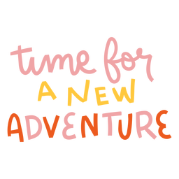 Letras coloridas de nueva aventura