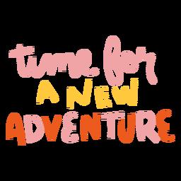 Novas letras coloridas de aventura