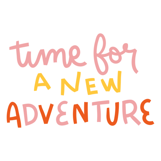 New adventure colorful lettering