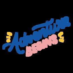 A aventura começa com letras coloridas