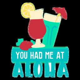 Aloha ilustração plana