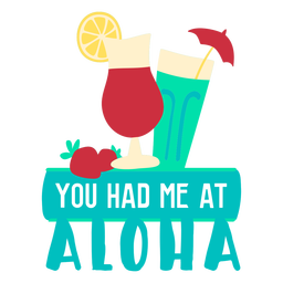 Ilustración plana aloha