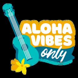 Citação plana de Aloha vibes