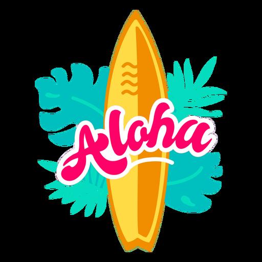 Aloha surfing flat
