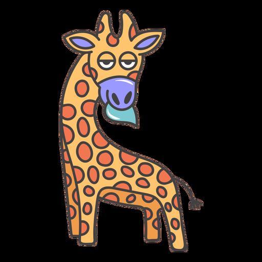 Giraffe eating cartoon