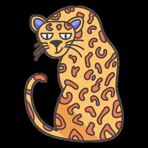Wild cheetah cartoon