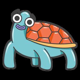 Dibujos animados de tortuga feliz