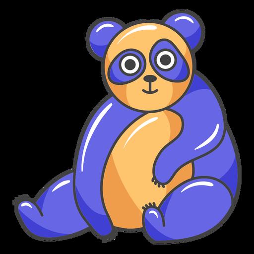 Dibujos animados de panda feliz