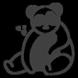 Panda happy filled-stroke