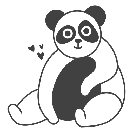 Panda feliz lleno-golpe
