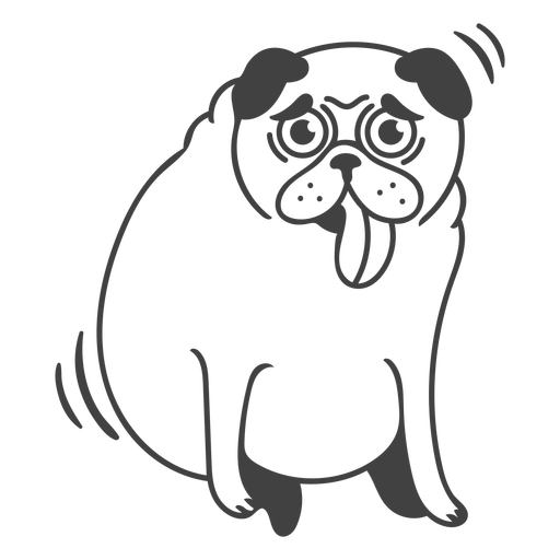 Tired dog filled-stroke