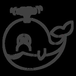 Happy whale filled-stroke
