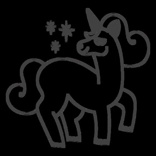 Orgulloso trazo relleno de unicornio