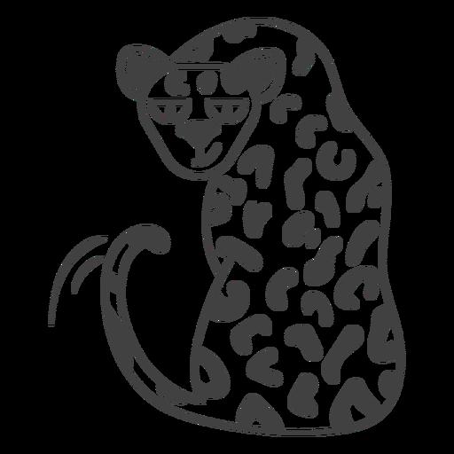 Golpe lleno de guepardo salvaje
