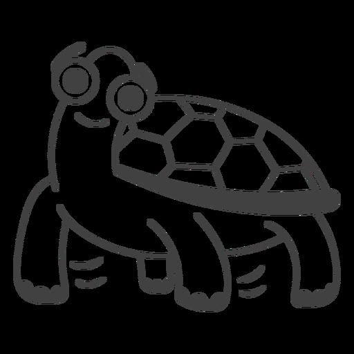 Happy turtle filled-stroke
