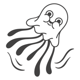 Medusa feliz lleno de trazo