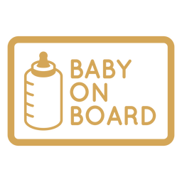 Baby on board badge