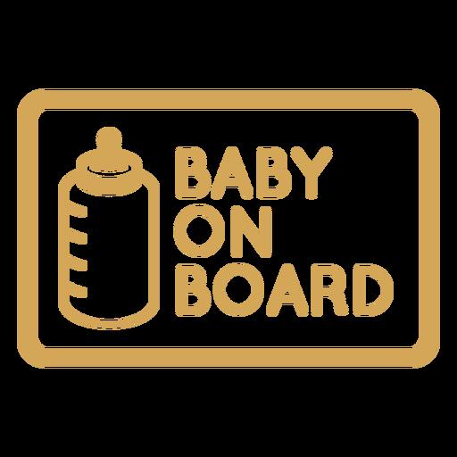 Crachá de bebê a bordo